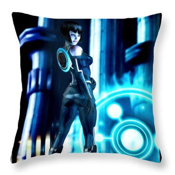 Tron Quorra Throw Pillow