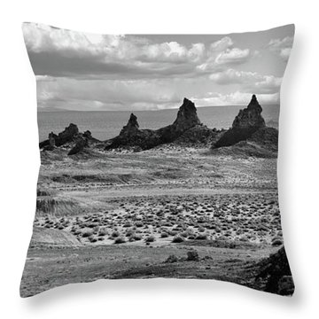 Trona Pinnacles Peaks Throw Pillow