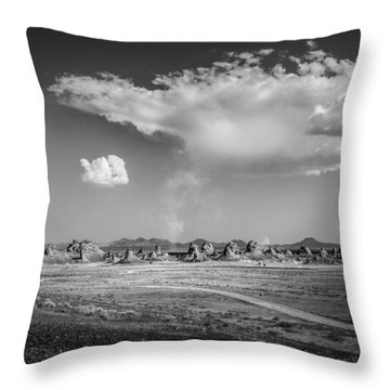 Trona Pinnacles Road  Throw Pillow