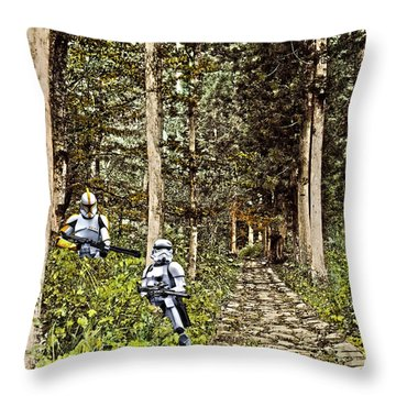 Troopers On The Planet Throw Pillow
