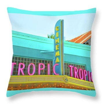 Throw Pillow featuring the photograph Tropic Cinema Deco by Jost Houk