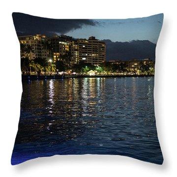 Tropic Night Throw Pillow