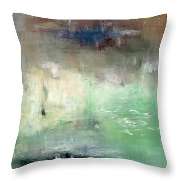 Throw Pillow featuring the painting Tropic Waters by Michal Mitak Mahgerefteh