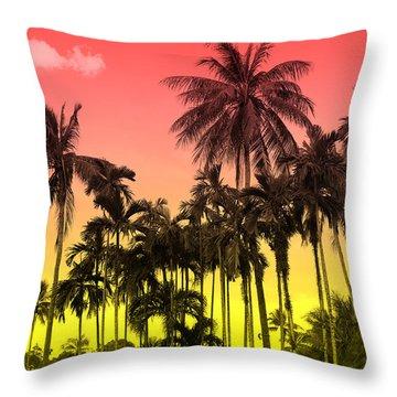 Tropical 9 Throw Pillow