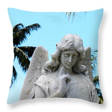 Tropical Angel With Tear Throw Pillow