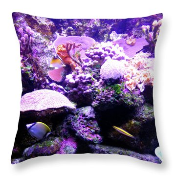 Throw Pillow featuring the photograph Tropical Aquarium by Francesca Mackenney