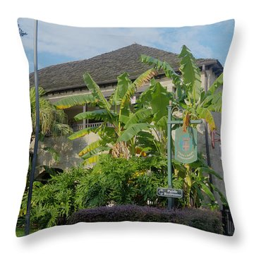 Tropical Atmosphere In St Augustine Throw Pillow