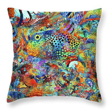 Tropical Beach Art - Under The Sea - Sharon Cummings Throw Pillow