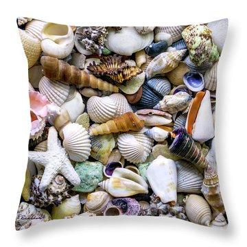 Tropical Beach Seashell Treasures 1500a Throw Pillow