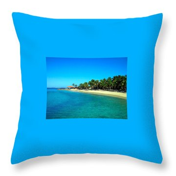 Tropical Bliss Throw Pillow by Betty Buller Whitehead