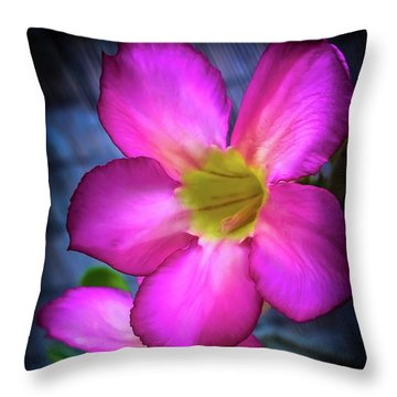 Tropical Bliss Throw Pillow by Karen Wiles