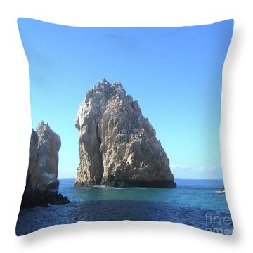 Tropical Blues Throw Pillow