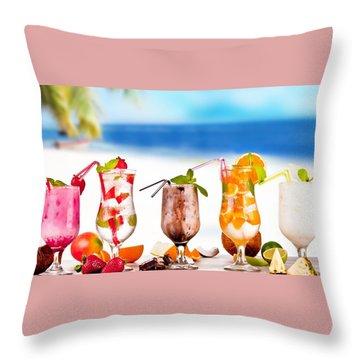 Tropical Cocktail Throw Pillow