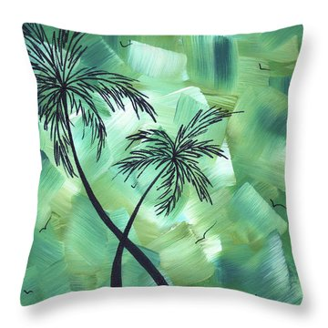 Tropical Dance 3 By Madart Throw Pillow by Megan Duncanson