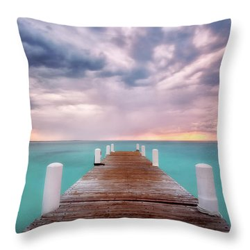 Tropical Drama Throw Pillow