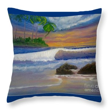 Throw Pillow featuring the painting Tropical Dream by Holly Martinson