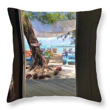 Tropical Entrance Throw Pillow