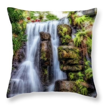 Tropical Falls Throw Pillow