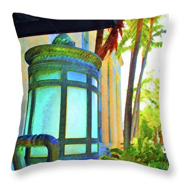 Throw Pillow featuring the photograph Tropical Federal by Jost Houk