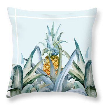 Tropical Feeling  Throw Pillow