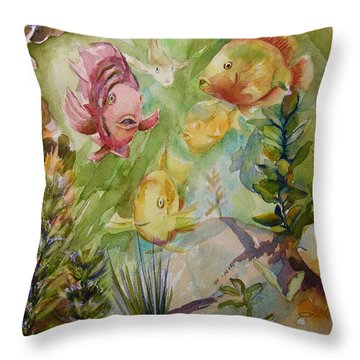 Tropical Fish 4 Throw Pillow by Julianne Felton