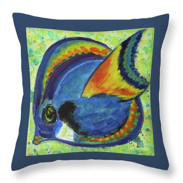 Tropical Fish Series 3 Of 4 Throw Pillow