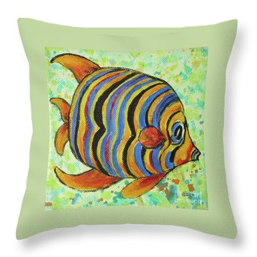 Tropical Fish Series 4 Of 4 Throw Pillow by Gail Kent
