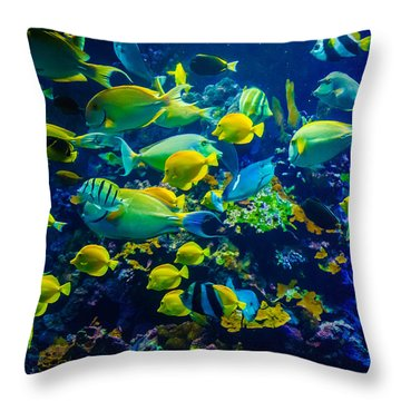 Tropical Fishes Of Maui Throw Pillow