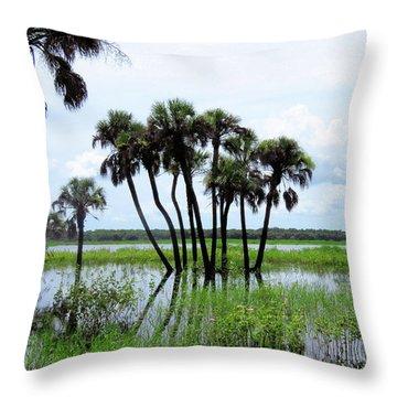 Tropical Flooding Throw Pillow by Rosalie Scanlon