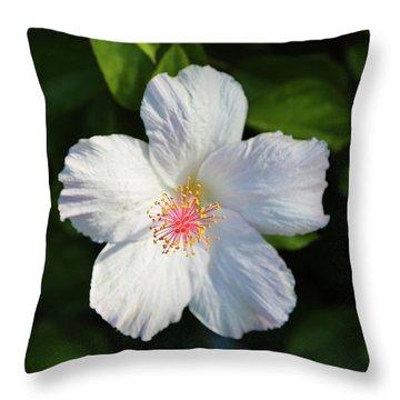 Tropical Flower 2 Throw Pillow