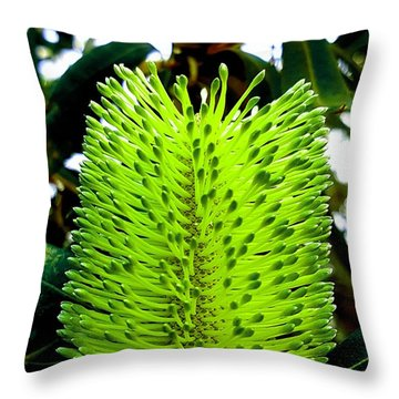 Tropical Flower Throw Pillow