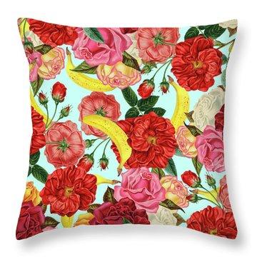 Tropical Forest Throw Pillow by Uma Gokhale