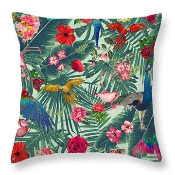 Tropical Fun Time  Throw Pillow