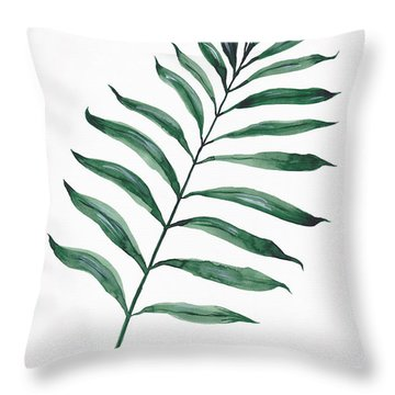 Tropical Greenery - Palm Tree Leaf Throw Pillow