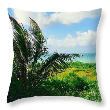 Hawaiian Coconut Palm Throw Pillow
