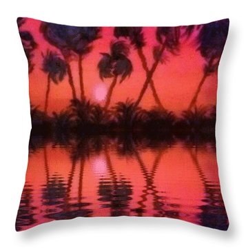 Tropical Heat Wave Throw Pillow
