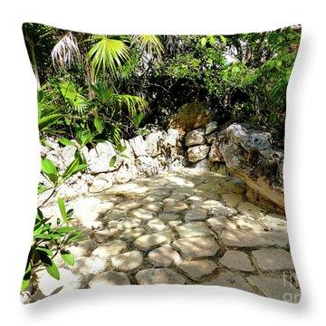 Tropical Hiding Spot Throw Pillow