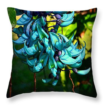 Tropical Jade Throw Pillow