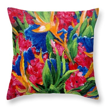 Tropical Throw Pillow by Jamie Frier