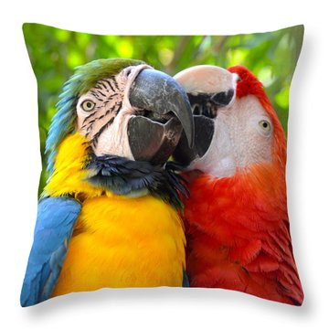 Tropical Kisses Throw Pillow