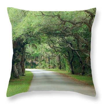 Tropical Magic Forest Throw Pillow