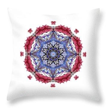 Tropical Mandala By Kaye Menner Throw Pillow