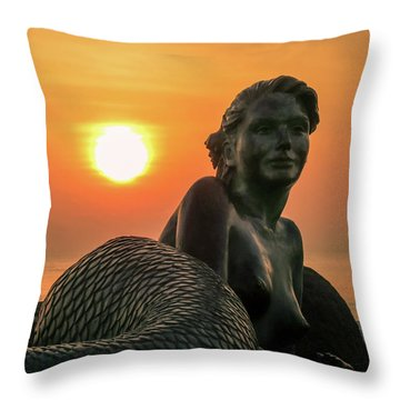 Tropical Mermaid Throw Pillow