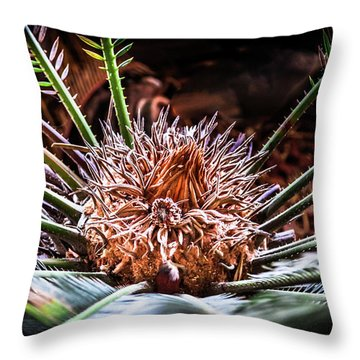 Tropical Moments Throw Pillow by Karen Wiles