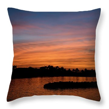 Throw Pillow featuring the photograph Tropical Moon by Laura Fasulo