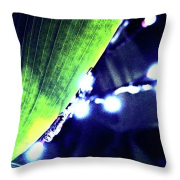 Throw Pillow featuring the digital art Tropical Night by Mindy Newman