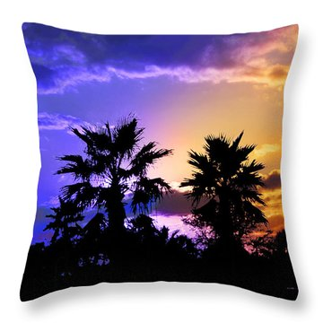 Throw Pillow featuring the photograph Tropical Nightfall by Francesa Miller