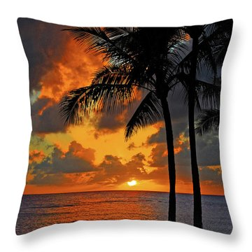 Tropical Nights  Throw Pillow by Lynn Bauer