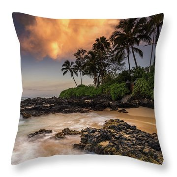 Tropical Nuclear Sunrise Throw Pillow