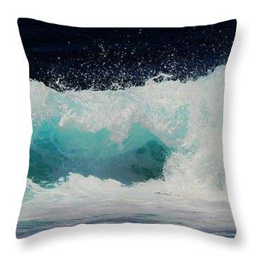 Tropical Ocean Surf Throw Pillow